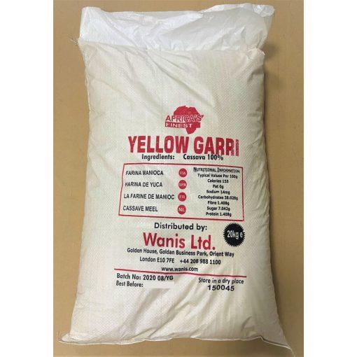 Sárga Cassava GARI dara 20kg lédig Africa's Finest