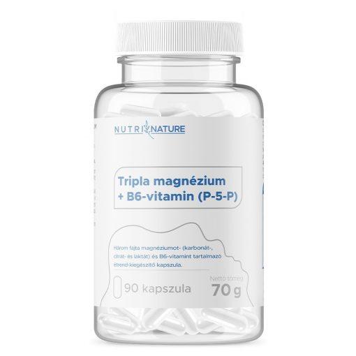 Tripla magnézium + B6-vitamin kapszula Nutri Nature