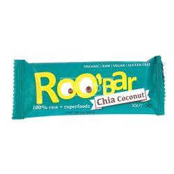 BIO RAW chia kókusz gyümölcsszelet 30g Roo'bar
