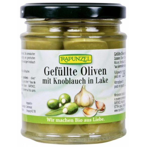 Zöld oliva fokhagymával töltve 190g Rapunzel
