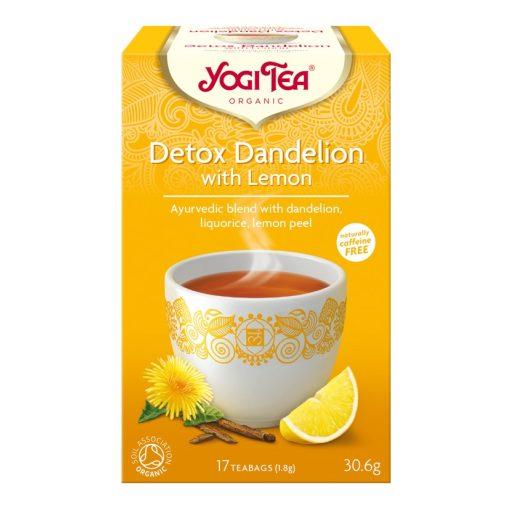 Tisztító tea citrommal, gyermekláncfűvel BIO Yogi
