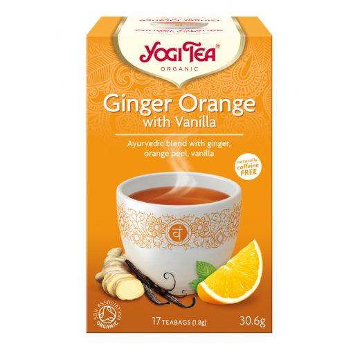 Narancsos gyömbér tea vaníliával BIO Yogi