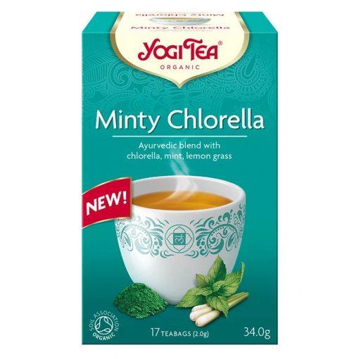 Mentás BIO tea chlorella algával 17x2g Yogi