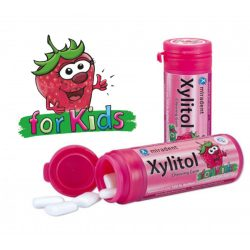 Xylitol eper rágógumi gyerekeknek 30db