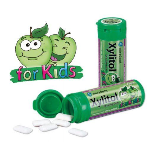 Xylitol alma rágógumi gyerekeknek 30db