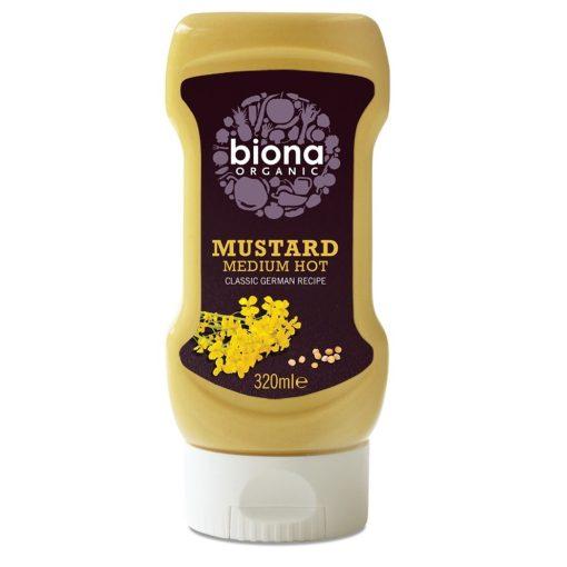 Mustár közepesen erős BIO 320ml Biona