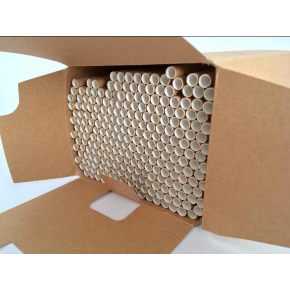 Papír szívószál 250db vegyszermentes, 100 %-ban lebomló