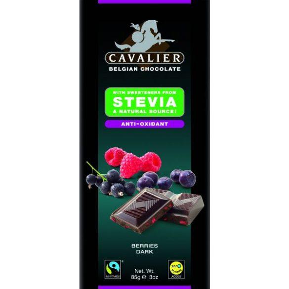 Étcsokoládé bogyós gyümölcs 85g Cavalier