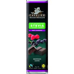 Étcsokoládé bogyós darabos 40g Cavalier