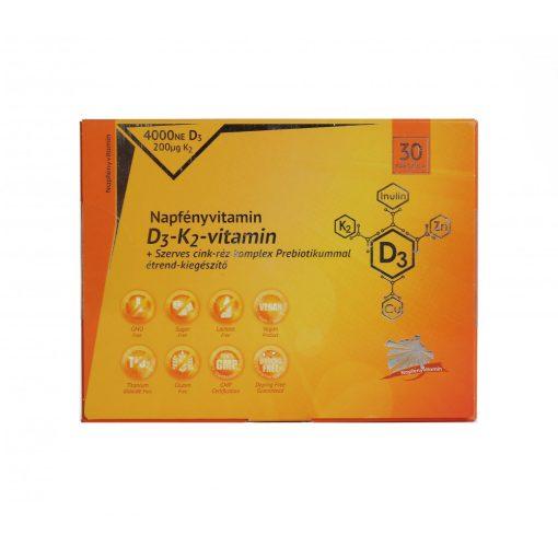 D3-K2-vitamin és szerves cink-réz komplex Prebiotikummal NapfényVitamin