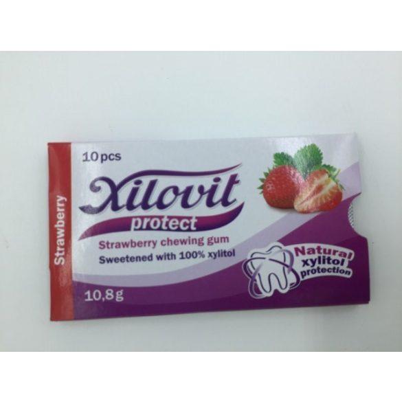 Xilovit protect rágógumi epres 10db