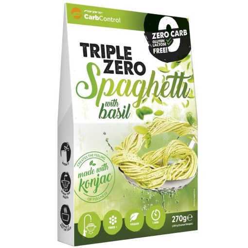 Bazsalikomos spagetti konjac tészta 270g Triple Zero