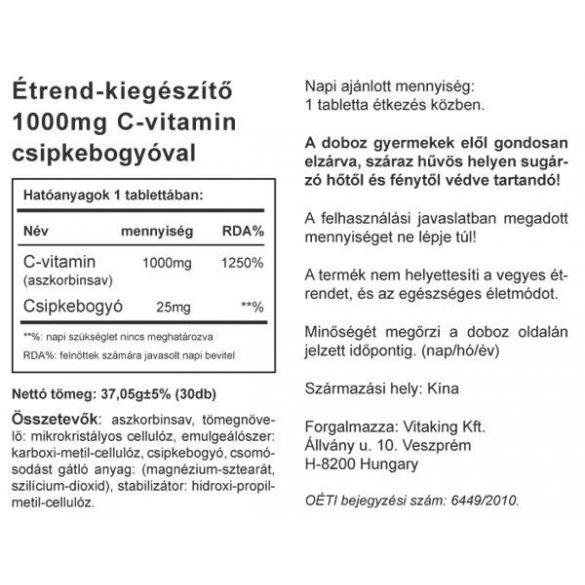 C-1000 Csipkebogyóval (30) tabletta Vitaking