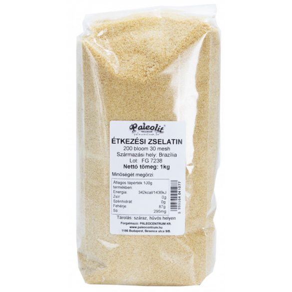 Zselatin étkezési (marha) 200 Bloom 1kg