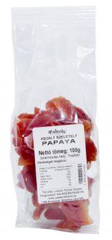 Aszalt papaya szelet cukormentes 100g Paleolit