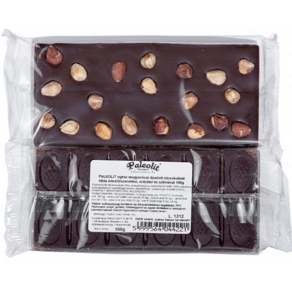 Egész mogyorós étcsokoládé 100g Paleolit