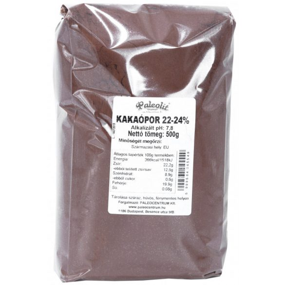 Kakaópor 22-24% holland 500g Paleolit