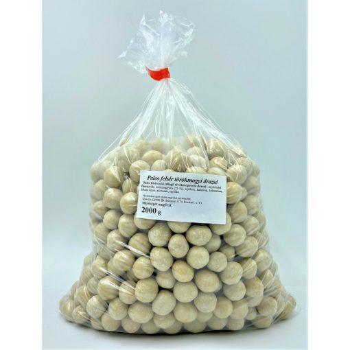 Törökmogyorós fehér drazsé lédig 2kg kókuszos bevonattal drazsírozva