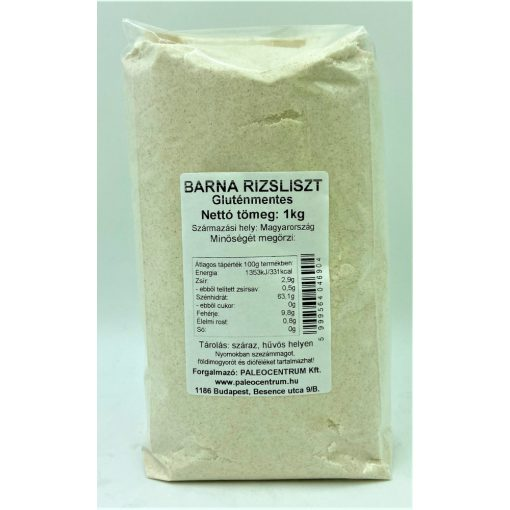 Barna rizsliszt 1kg gluténmentes