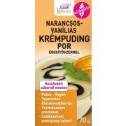 Narancsos-vaníliás krémpudingpor 70 g Szafi Reform