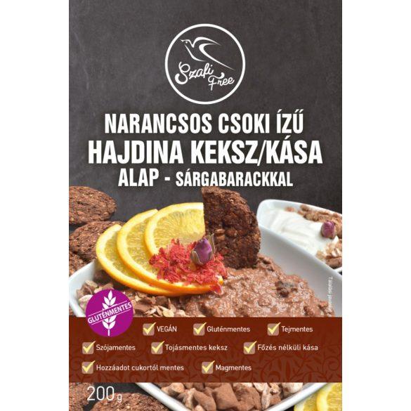 Narancsos csoki ízű hajdina keksz/kása alap - sárgabarackkal 200g Szafi Free
