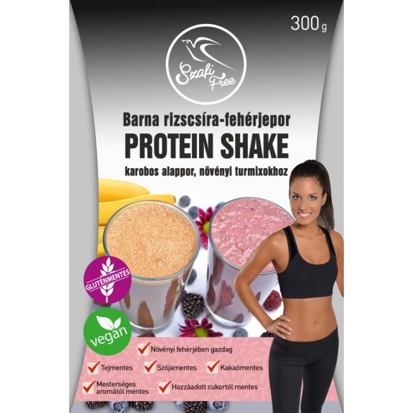 Barna rizscsíra-fehérjepor protein-shake 300g Szafi Free