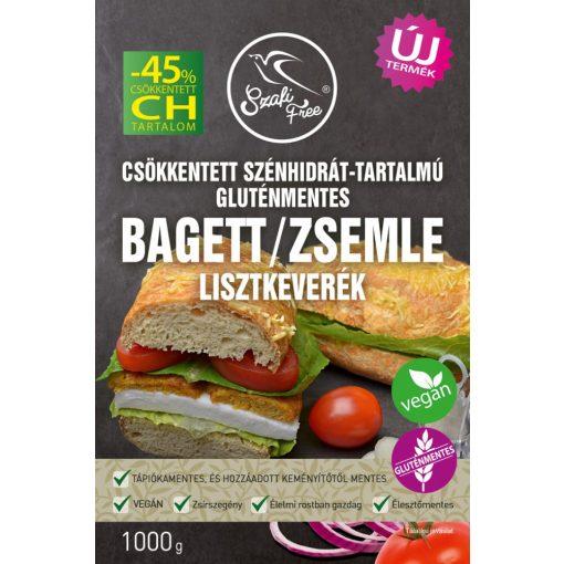 Csökkentett CH-tartalmú gluténmentes bagett/zsemle lisztkeverék 1kg Szafi