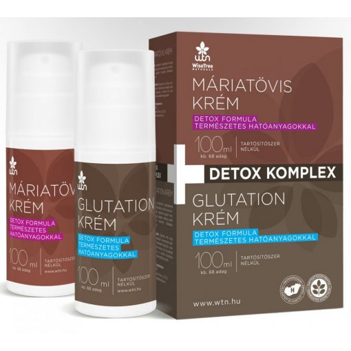 Detox komplex csomag Wise Tree Natural 100ml Máriatövis krém + 100ml Glutation