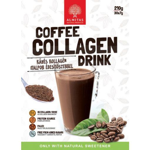 Kávés kollagén italpor 210g Almitas (30 adag)
