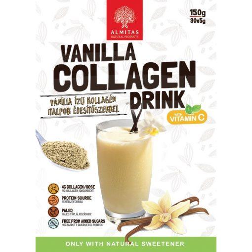 Vaníliás kollagén italpor 150g Almitas (30 adag)