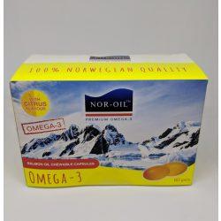 Szűz lazacolaj kapszula citromos 60 db Nor-Oil