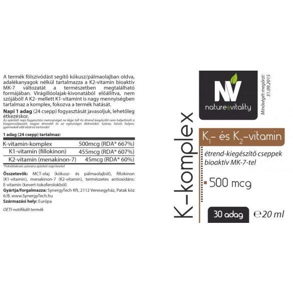 K-komplex 500mcg 20ml Nature&Vitality