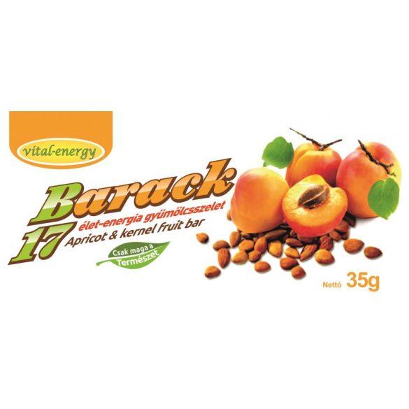 Barack17 élet-energia gyümölcsszelet 35g