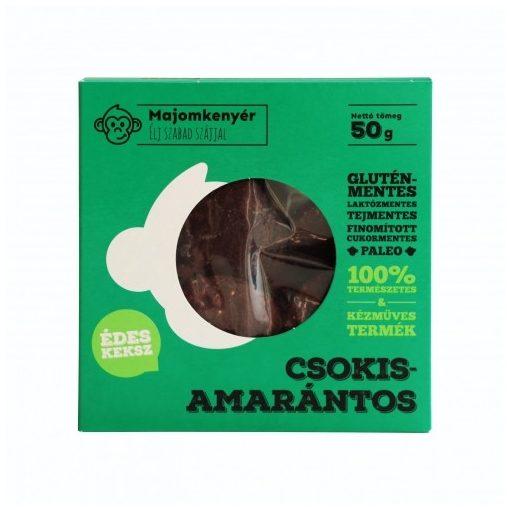 Csokis-amarántos paleokeksz 50g Majomkenyér
