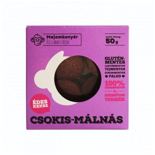 Csokis-málnás paleokeksz 50g Majomkenyér