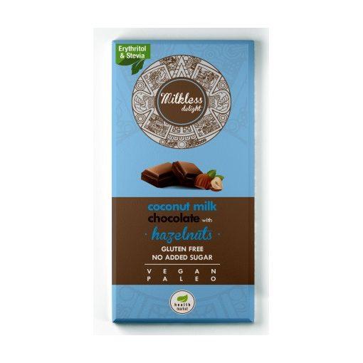 Kókusztejes csoki egészmogyoróval 80g Milkless Delight