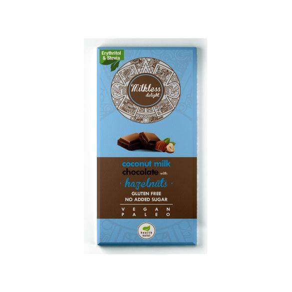 Milkless delight mogyorós csokoládé 80g EgészségMarket