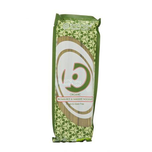 BIO gluténmentes barnarizs-wakame tészta 250g king soba