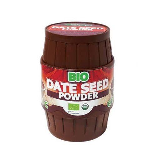 BIO Datolya kávé (datolya mag por) 300g Carino műanyag hordóban