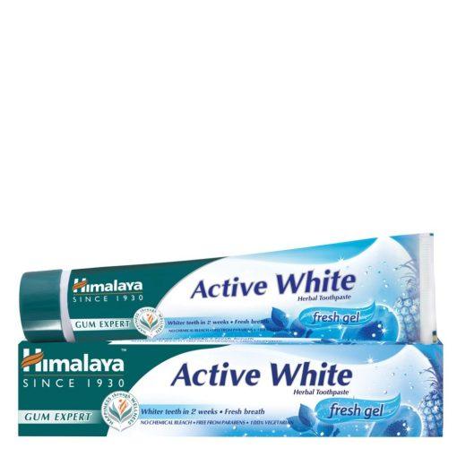 Active White fogfehérítő és frissítő gyógynövényes fogkrémgél 75ml Himalaya