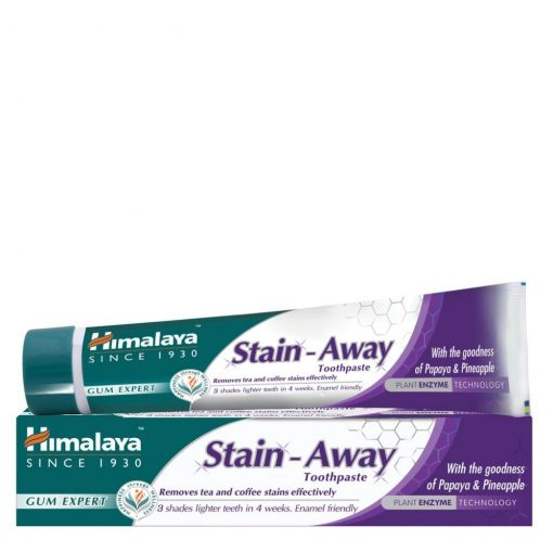 Stain Away folteltávolító és fogfehérítő gyógynövényes fogkrém 75ml Himalaya