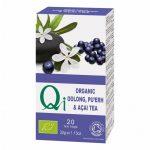 Oolong és Pu'Erh tea acai berryvel BIO 20x1,6g Qi