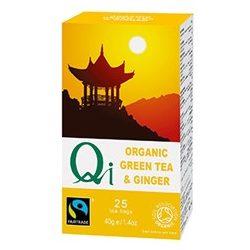 Zöld tea gyömbérrel BIO 25x1,6g Qi