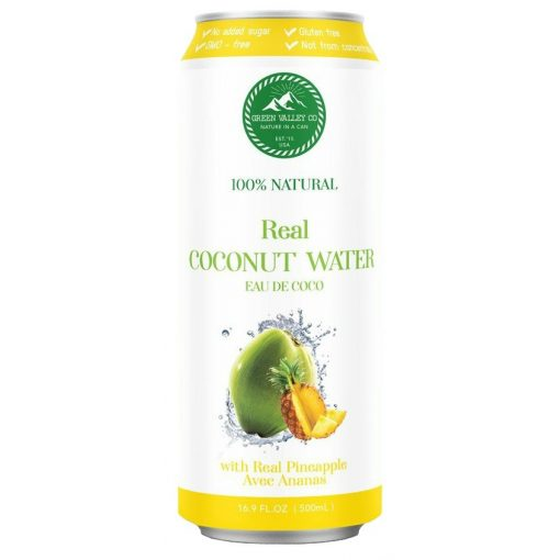 Kókuszvíz 100%, valódi ananásszal, hozzáadott cukor nélkül 500ml Green Vall