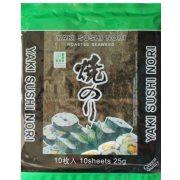Tengeri algalapok 10 db, 25g Yaki Sushi