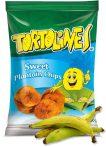 Zöldbanán chips édes 100g Tortolines