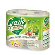 Öko toalettpapír 3 rétegű 4 tekercses Grazie Natural