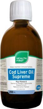 Csukamáj olaj 250ml Health First