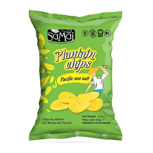Plantain (főzőbanán) nagy chips tengeri sós 142g SAMAI