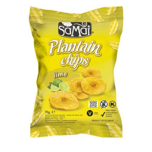 Plantain (főzőbanán) chips lime 70g SAMAI